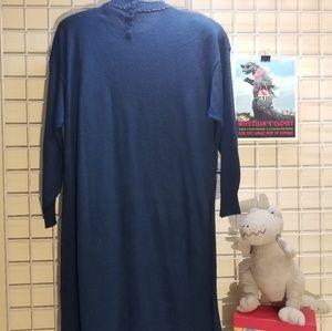 Lady Darian Dresses - Lady Darian Blue Beaded Vintage Sweater Dress 1X.